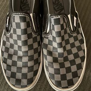Vans checkerboard slip on size 5.5